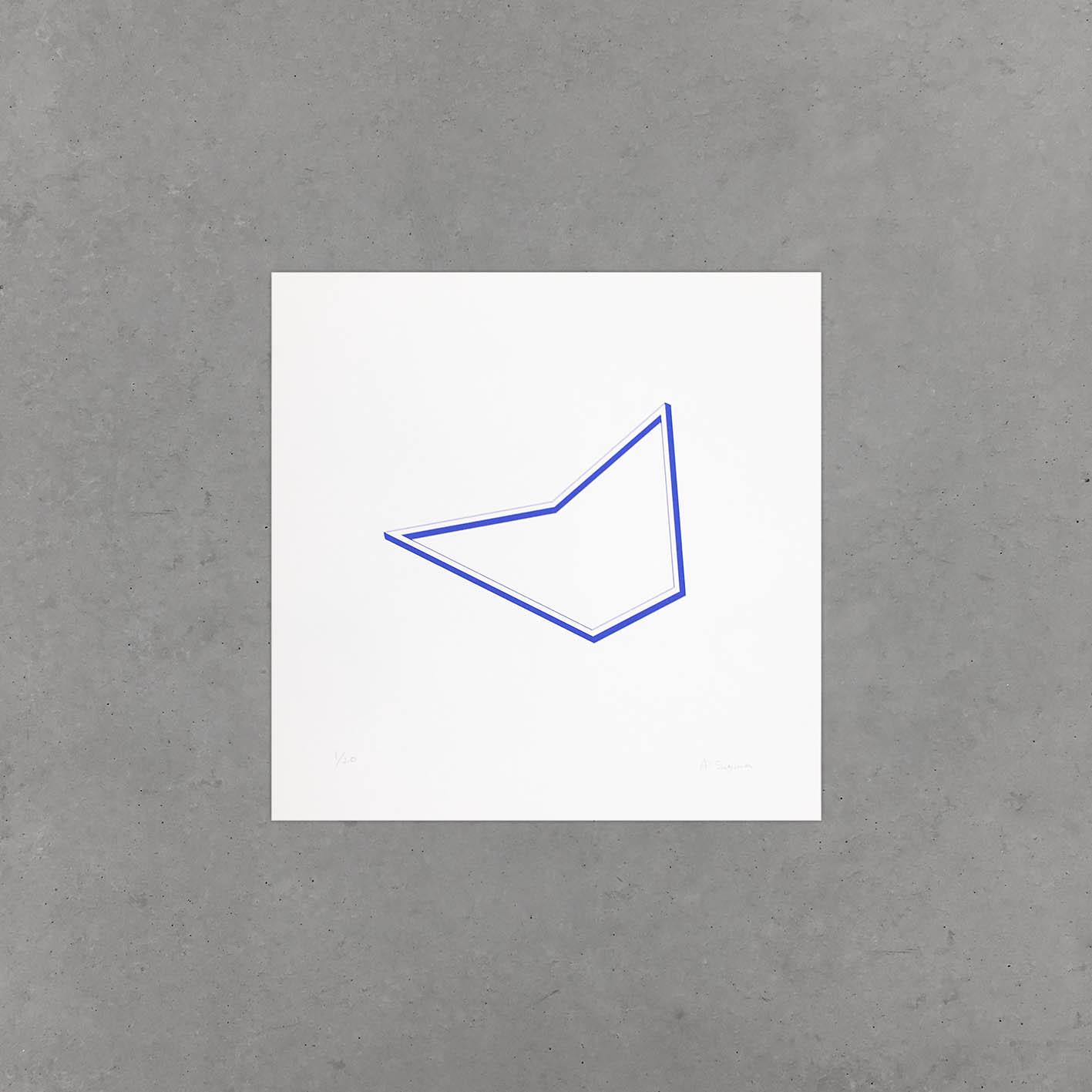 Symetria, Ai Sugiura, Blue Drawing 01 A
