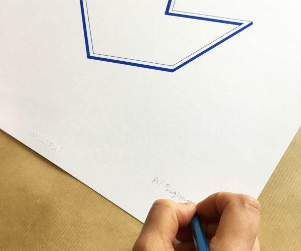 Symetria, Ai Sugiura, Blue Drawing 02
